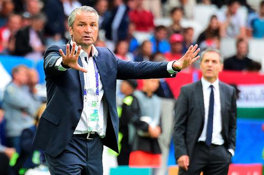 Hungary's coach Bernd Storck saw his side record a surprise opening round victory