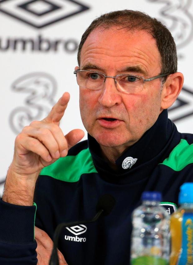 Wary: Martin O'Neill expects a stern test for the Republic on Saturday