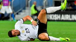 Big loss: Mario Gomez's hamstring injury has ruled the influential striker out of the rest of the tournament