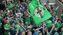 Ten years on: Northern Ireland fans were out in force creating an atmosphere reminiscent of the England game