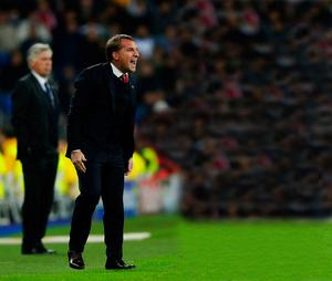 All change: Brendan Rodgers controversially shuffled his pack for the Real Madrid battle on Tuesday night