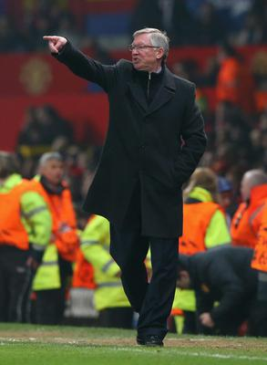 MANCHESTER, ENGLAND - MARCH 05:  Manchester United Manager Sir Alex Ferguson reacts during the UEFA Champions League Round of 16 Second leg match between Manchester United and Real Madrid at Old Trafford on March 5, 2013 in Manchester, United Kingdom.  (Photo by Alex Livesey/Getty Images)