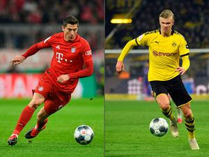 Goal trail: Robert Lewandowski and Erling Haaland have been in top form this season