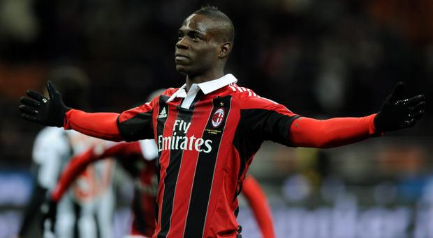 Mario Balotelli in action for AC Milan
