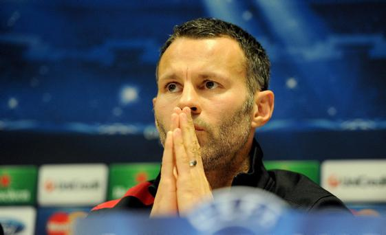 Manchester United's Ryan Giggs during a press conference at Old Trafford, Manchester. PRESS ASSOCIATION Photo. Picture date: Monday March 4, 2013. Manchester United will face Real Madrid in their UEFA Champions League match tomorrow evening. See PA story SOCCER Man Utd. Photo credit should read: Martin Rickett/PA Wire.