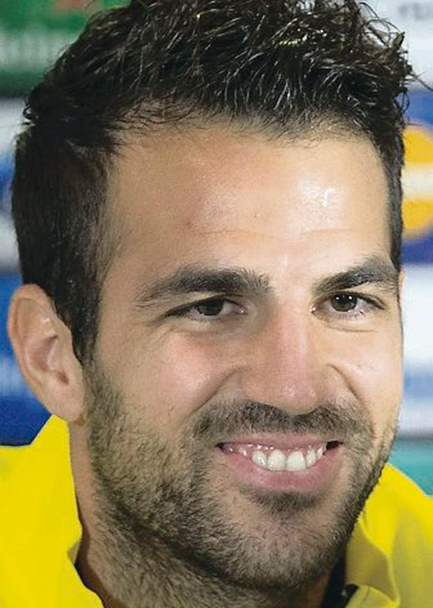 Need to step up: Barcelona midfielder Cesc Fabregas