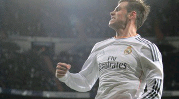 Gareth Bale enjoys his opening goal for Real Madrid
