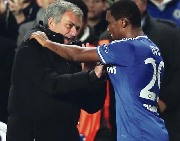 WInners: Jose Mourinho and Samuel Eto'o lifted the Champions League crown together at Inter Milan in 2010