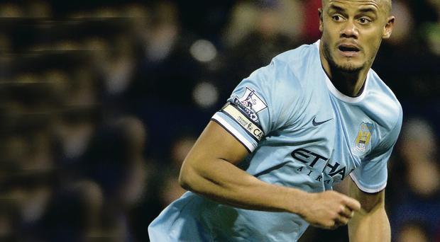 All to play for: City's Vincent Kompany is refusing to give up on his Champions League dream