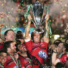 Lift off: Jonny Wilkinson raises the Heineken Cup on Saturday as Toulon seal their place in the history books