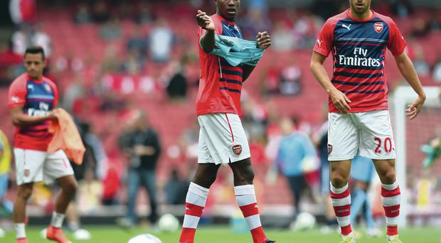 Euro mission: Danny Welbeck and Mathieu Flamini will aim to star for Arsene Wenger's depleted Gunners
