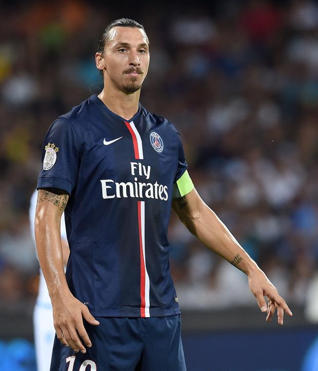 PSG superstar Zlatan Ibrahimovic