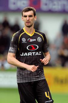Tragedy: Lokeren defender Gregory Merten,s who collapsed in a reserve game, has died