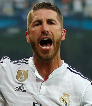 Wanted man: Sergio Ramos is admired by Manchester United