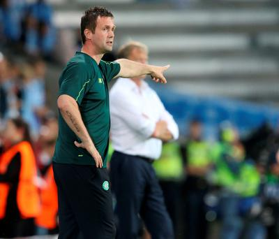 Way forward: Ronnie Deila gives the orders against Malmo