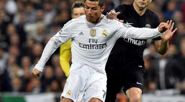 Star quality: Cristiano Ronaldo inspiring Real Madrid to a 1-0 victory over PSG