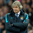 Injury blow: Manuel Pellegrini has lost star midfielder David Silva