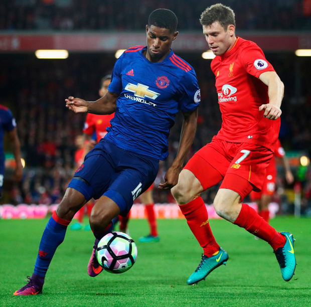 In demand: Marcus Rashford could get call-up for England U21s despite featuring for the seniors