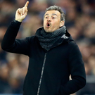Letting it out: Luis Enrique snapped at an interviewer after loss