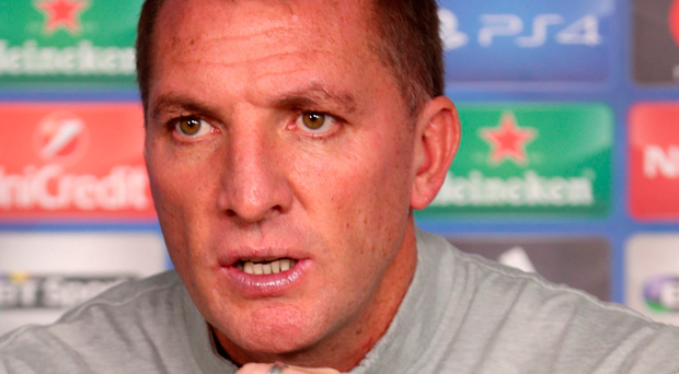 Clear aim: Brendan Rodgers is eyeing up the Europa League