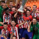 Glory night: Atletico Madrid toast Europa League success
