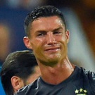 Not happy: Cristiano Ronaldo reacts after his shock red card