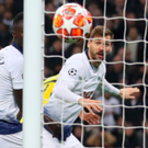 Three and easy: Fernando Llorente heads Spurs 3-0 in front against Borussia Dortmund at Wembley last night