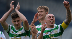 Bright future: Scott Brown has tipped Kieran Tierney (left) to shine with Arsenal