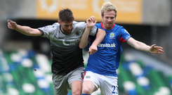 Battle ready: Ryan McGivern is ready to help Linfield take another giant stride in Europe tonight