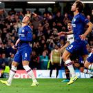 Off target: Ross Barkley reacts after blazing his penalty over the bar