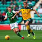 Looking ahead: Kristoffer Ajer knows Cluj will offer a stern test at Parkhead