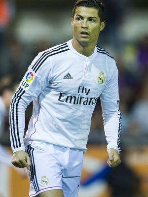 On target: Cristiano Ronaldo scored for Real Madrid in Basel
