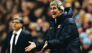 Blown it: Manuel Pellegrini fluffed his lines on Manchester City's big night against Barcelona on Tuesday evening