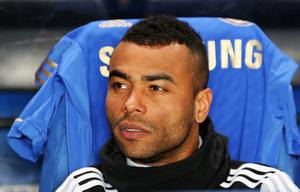 LONDON, ENGLAND - FEBRUARY 21: Ashley Cole of Chelsea looks on prior to the UEFA Europa League Round of 32 second leg match between Chelsea and Sparta Praha at Stamford Bridge on February 21, 2013 in London, England.  (Photo by Ian Walton/Getty Images)