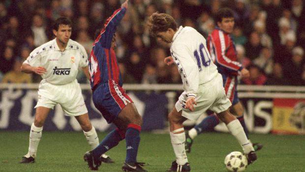 Michael Laudrup, right, played for both clubs (Paul Marriott/EMPICS)