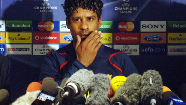 Frank Rijkaard's reign ended shortly after a heavy loss to Real (Sean Dempsey/PA)