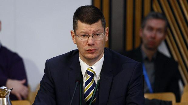 Neil Doncaster has no answers for Rangers' insistence on his suspension from the SPFL (Andrew Cowan/Scottish Parliament)