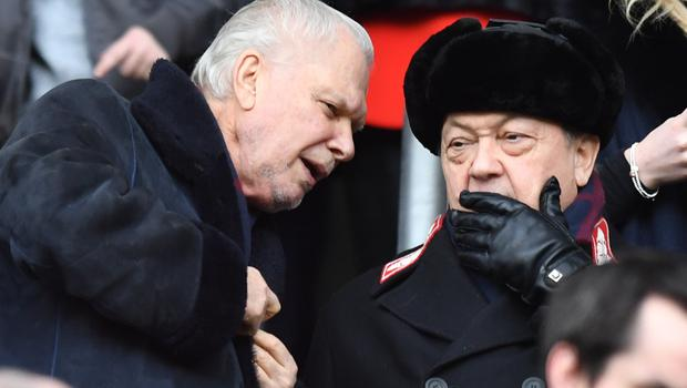 West Ham United co-owners David Sullivan (right) and David Gold