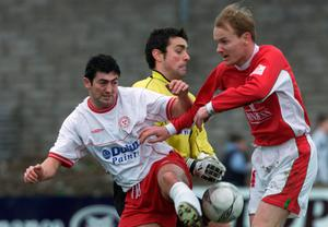 Peter Hutton in action after his controversial move to Shelbourne in 2002