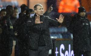 Jim Gannon was pleased with the way Stockport acquitted themselves (Martin Rickett/PA)