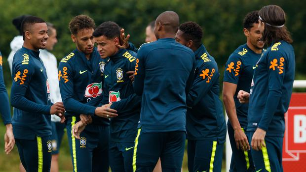 Brazil are training at Tottenham's training ground ahead of a friendly with Croatia at Anfield (John Walton/PA)