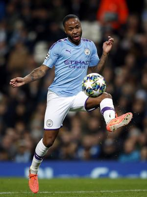 Manchester City's Raheem Sterling traps the ball (Martin Rickett/PA)