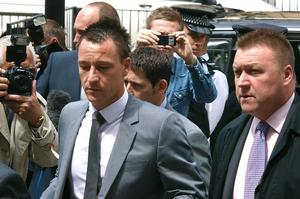 John Terry arriving at Westminster Magistrates Court in 2012 (Max Nash/PA)