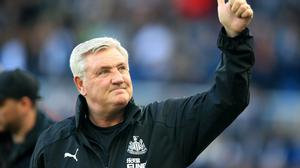 Newcastle head coach Steve Bruce is hoping to finally end the club's trophy drought (Owen Humphreys/PA)