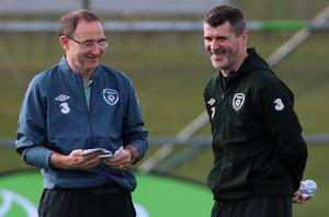Roy Keane, right, is now working alongside Martin O'Neill at Nottingham Forest (Niall Carson/PA)