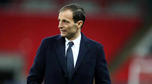Juventus coach Massimiliano Allegri will be without his skipper Giorgio Chiellini against Ajax (Steven Paston/PA)