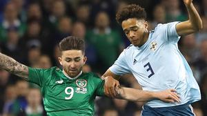 Will the Republic of Ireland and Northern Ireland meet again in the Euro 2020 play-offs? (Lorraine O'Sullivan/PA)