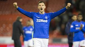 Borna Barisic was on target for Rangers in Gibraltar (Jeff Holmes/PA)