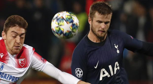 Eric Dier (right) was required to have emergency surgery to remove his appendix last December (Darko Vojinovic/AP)