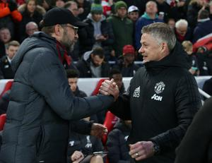 Well done: Ole Gunnar Solskjaer congratulated Jurgen Klopp and admitted it hurt to see Liverpool win the league title